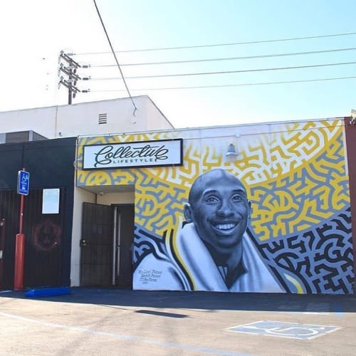 Street Murals by Levi Ponce seen at Collective Lifestyle, Los Angeles - Kobe Portrait