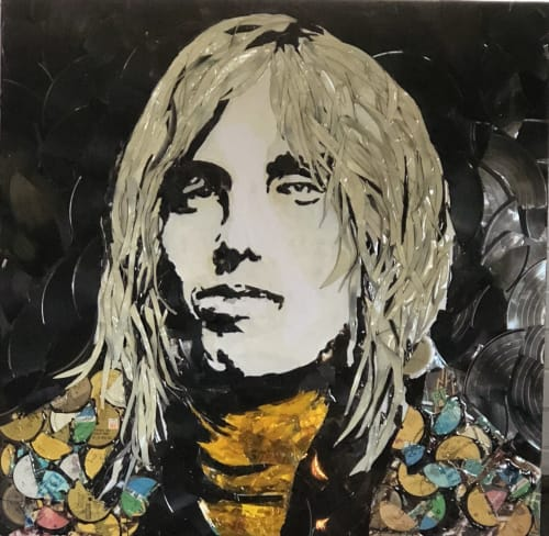 Paintings by Irol Studio seen at Private Residence, San Diego - Vinyl Tom Petty