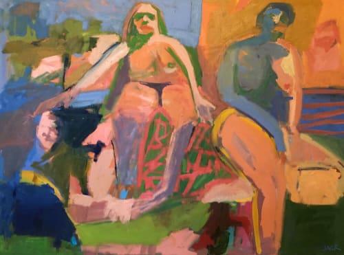 Paintings by Rebecca Jack seen at Creator's Studio, Atlanta - Down by the water