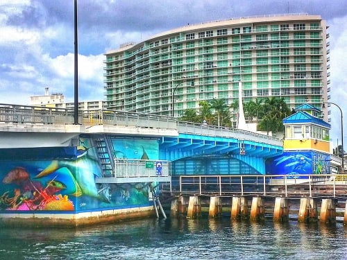"Architecture by D.Friel - Connected by Water seen at East Atlantic Blvd., Intra-Coastal Bridge in Pompano Beach, FL, Pompano Beach - Pompano Beach ""Atlantic Harmony"" Bridge Project"