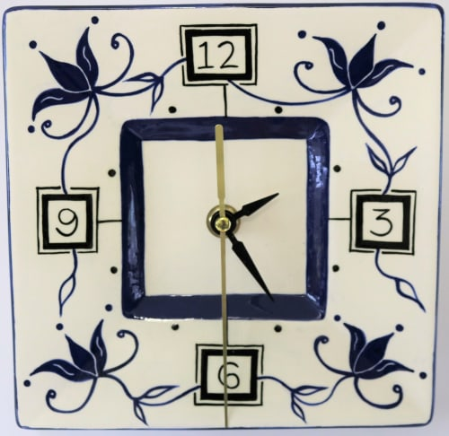 Interior Design by Glaze Ceramics seen at Private Residence, Inverloch - Ceramic Clock