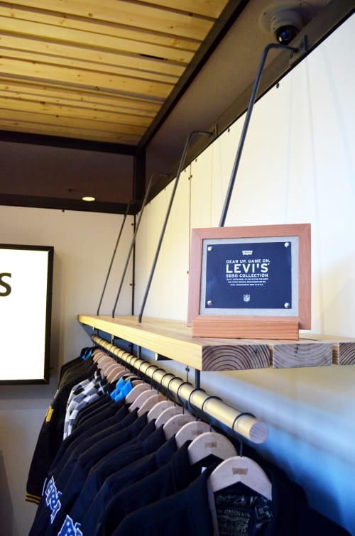 Architecture by Kyle Minor Design seen at Levi's Plaza, San Francisco - Levi's Kiosks