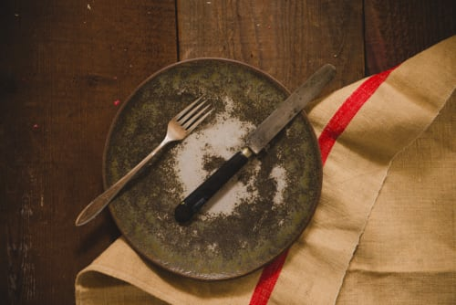 "Ceramic Plates by MaryMar Keenan seen at Nightbird, San Francisco - The Progress Collection - 9"" Salad Plate - Moonshadow"