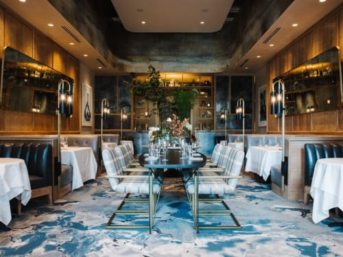 Murals by Amy Parry Projects at C. Ellet's Steakhouse, Atlanta - Custom Mural / Hand-Embellished Wallcovering