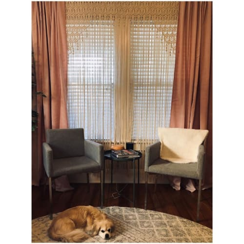 Macrame Wall Hanging by Oak & Vine seen at Private Residence, Lakeland - Macrame Curtains