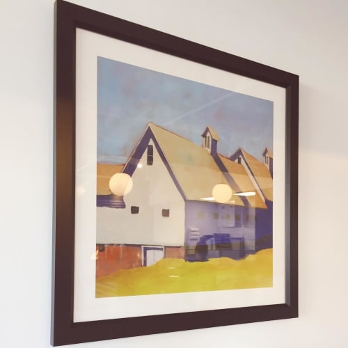Paintings by Carol C. Young Fine Art seen at Roost Darien, Darien - Structure Painting