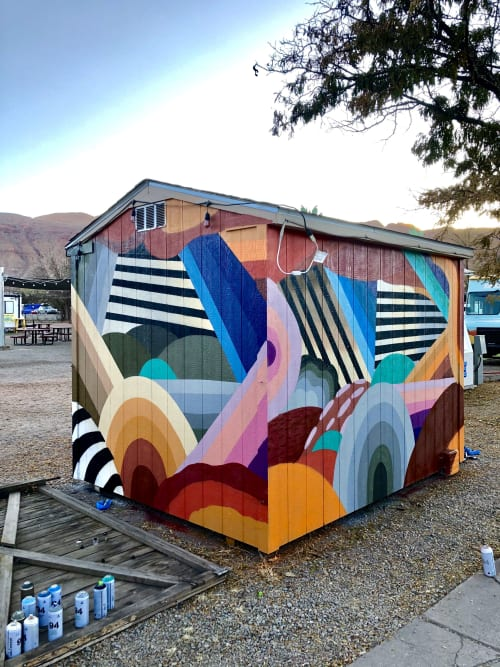Murals by Nathan Brown seen at Moab, Moab - EXPEDITION LODGE AND FOOD TRUCK PARK