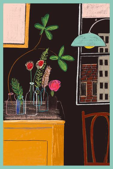 Wall Hangings by Patti Blau Prints seen at Private Residence, Traralgon - Jazz at Midnight Art Print