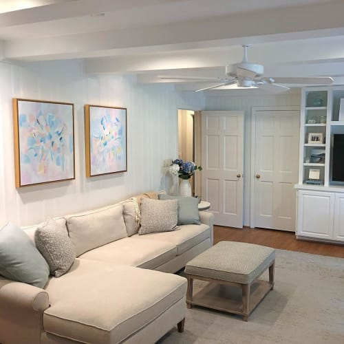 Paintings by Lauren Padian Art seen at Private Residence, Houston - Commissioned Diptych Paintings