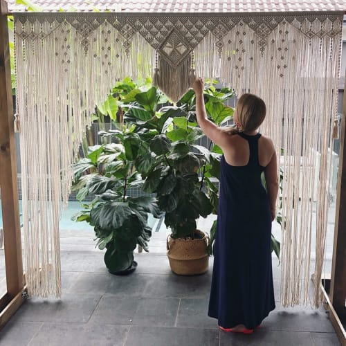 Macrame Wall Hanging by Sarah Wallace seen at Private Residence, Brisbane - Wall Hanging