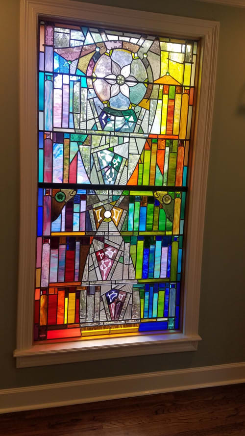 """Residential library """"bookcase"""" window   Interior Design by Warren Simmons   Hayes Evelyn MD in Baton Rouge"""