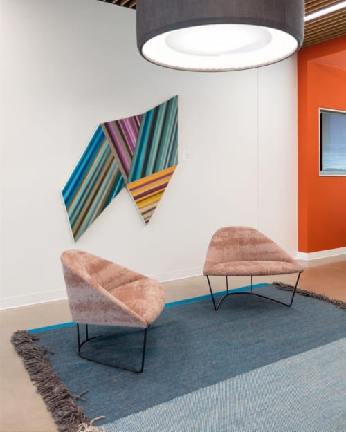 Paintings by Louis Vega Treviño seen at Capital One Campus, Plano - Transition