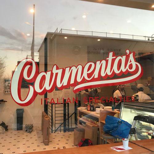 Murals by Very Fine Signs seen at Carmenta's, Brooklyn - Custom Logo