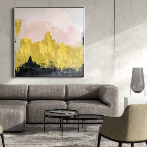 Wall Hangings by Artemani Studio seen at Private Residence, Auckland - Yellow Landscape