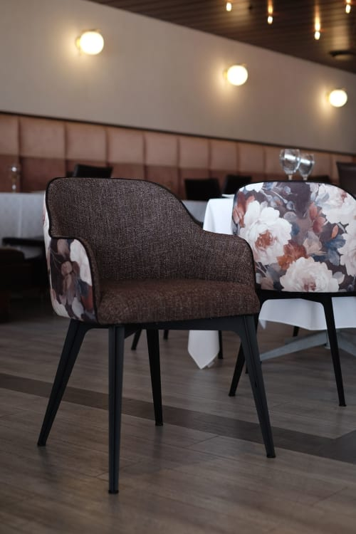 Chairs by Manna Design Studio seen at Heat Grill Room, Pretoria - Kare Chairs