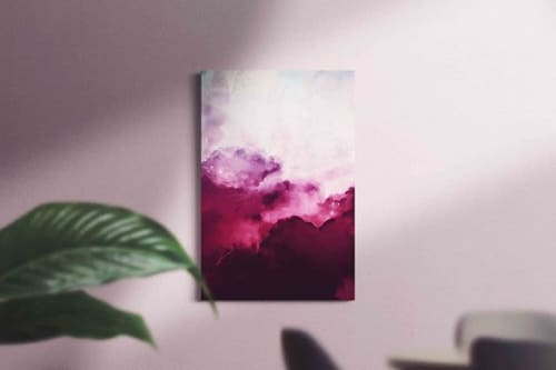 Paintings by Corinne Melanie Co. | Art & Design by Corinne Watson seen at Private Residence - Afār X - Abstract Art Cloud Painting