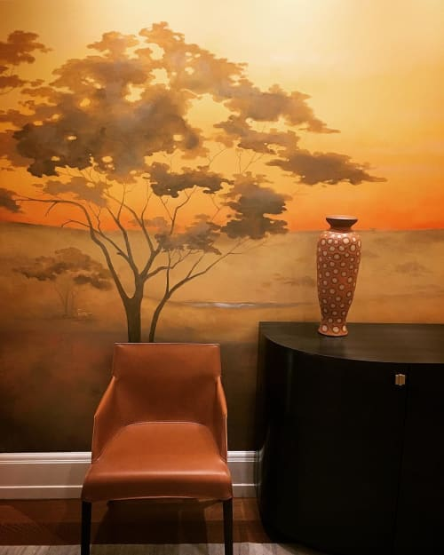 Wall Treatments by Caroline Lizarraga seen at Private Residence, New York - Tropics