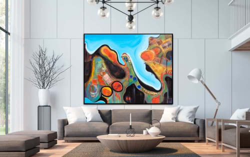 Paintings by Tania Chanter seen at Australia - Scenic Flight
