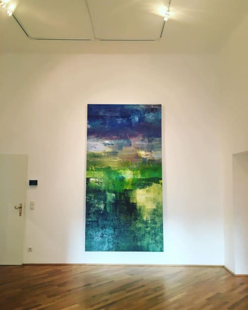 Paintings by Erzsebet Nagy Saar seen at Private Residence, Vienna - Frequency IV