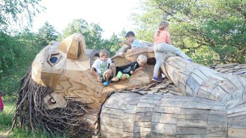 Public Sculptures by Thomas Dambo seen at The Morton Arboretum, Lisle - Little Arturs