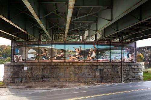 Murals by Jonathan Laidacker seen at Philadelphia, Philadelphia - Philadelphia Rowing