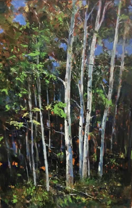 Paintings by Cathy Boyd seen at Creator's Studio, Midland - Come Walk With Me, original oil painting, 24 x 36