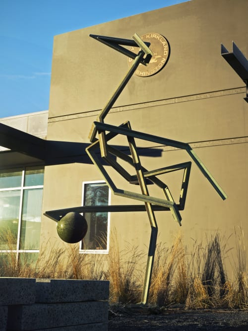 Public Sculptures by Matt Babcock seen at Kirkland Justice Center, Kirkland - Crane in its Vigilance