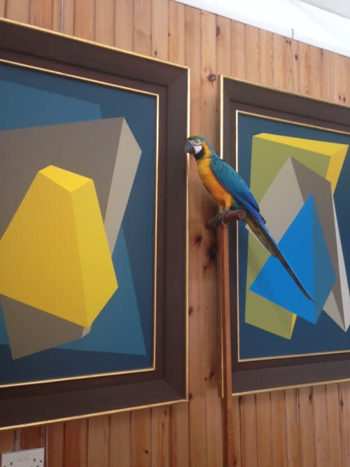 Paintings by Rob Wyn Yates seen at Private Residence, London - Vortex 1 & 2