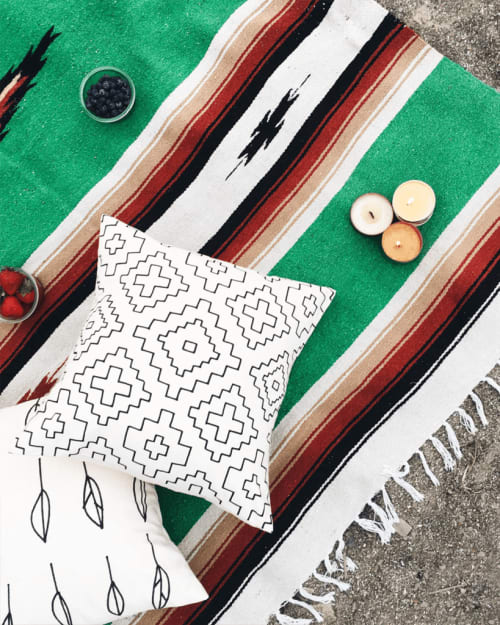 Pillows by Little Korboose seen at Private Residence, Joshua Tree - Weave   Organic Cotton Pillow
