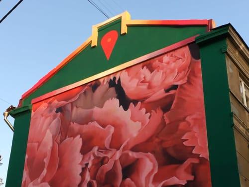 Street Murals by Erik Burke seen at Kramatorsk, Kramatorsk - Not A Wall, A Door (Не стена, а дверь)