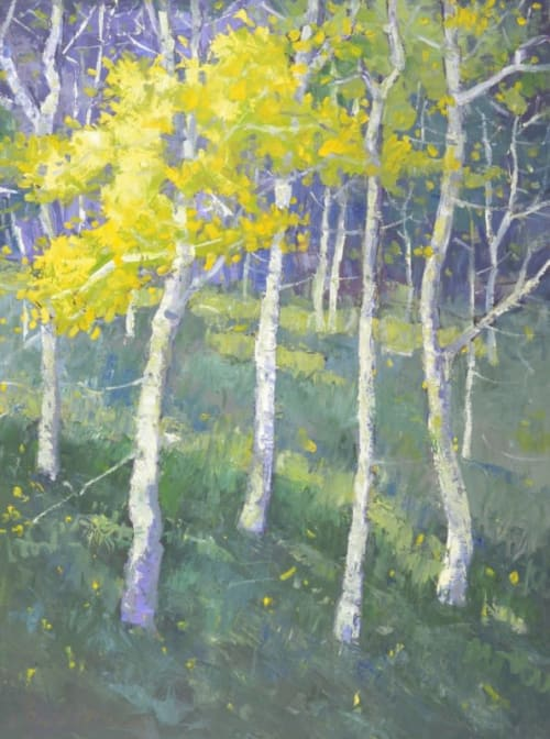 Paintings by David Williams Art seen at Creator's Studio, Gloucester - Ghost Trees