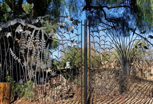 Hardware by James Naish seen at Hellman Park Trailhead, Whittier - Hellman Park Trailhead Fence