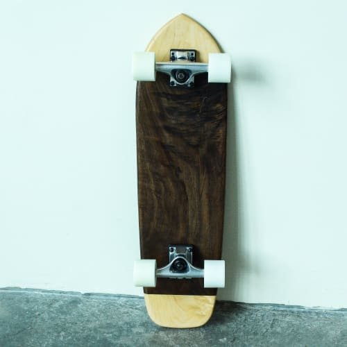 Art & Wall Decor by Southpaw Board Co seen at Private Residence, Portland - Black Walnut & Maple Cruiser Art