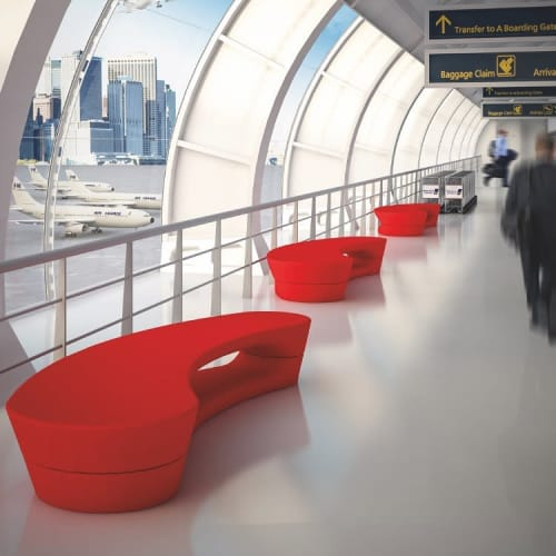 Benches & Ottomans by Peter Pepper Products seen at Compton, Compton - Boomerang Bench