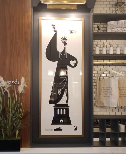 Wall Hangings by Kirsten Ulve seen at INNSIDE New York NoMad, New York - Lady Liberty