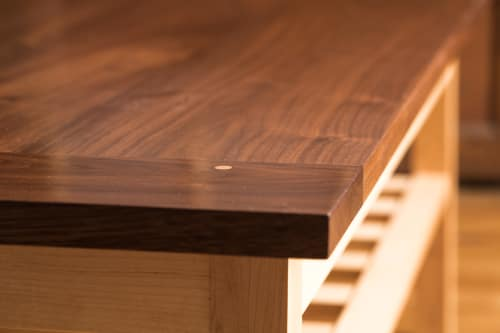 Tables by Ogelby Woodworks at Private Residence, Williston - Slighted Coffee Table