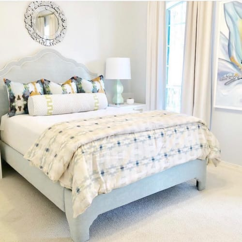 Linens & Bedding by Laura Park Designs seen at Private Residence, Tyler - Coral Bay Pale Blue Duvet