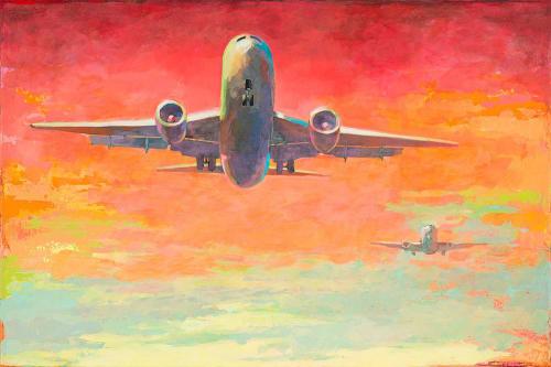 Paintings by David Palmer Studio seen at Pasadena, Pasadena - Arrivals #2