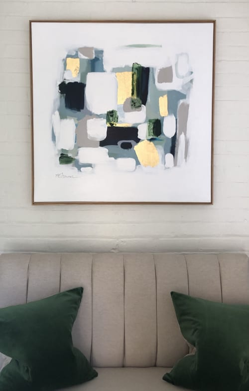 "Paintings by Michele Stancil seen at Ansley Atlanta Real Estate, Atlanta - ""Out of The Forest"""