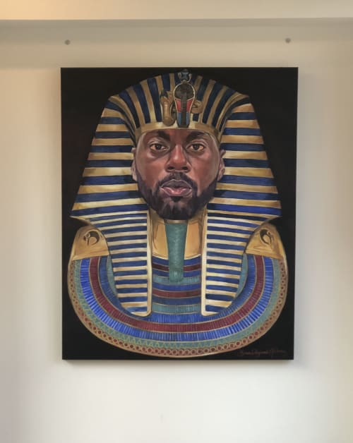 """Paintings by Brian """"BNick"""" Nickson seen at 607 Shelby St, Detroit - King BNick"""