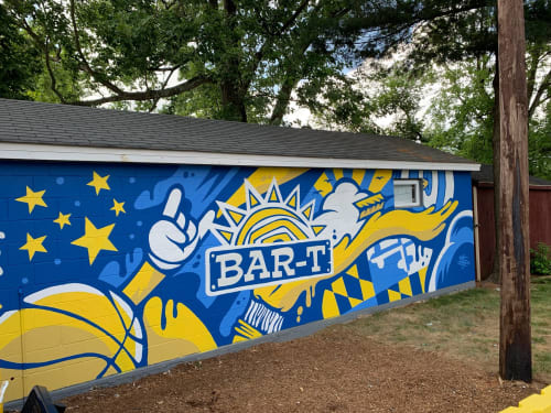 Murals by Matt Corrado seen at 6530 Olney Laytonsville Rd, Gaithersburg - Bar-T Summer Camp Mural