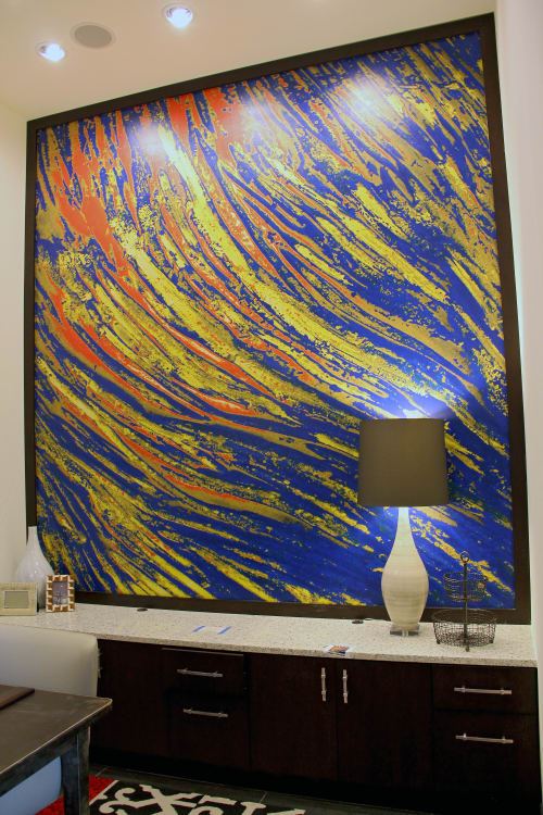 Wallpaper by Organik Creative at The Kenzie at the Domain Apartments, Austin - Office Wallcovering
