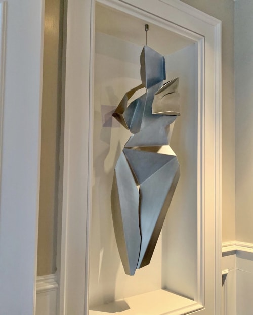 Folded Female I, II   Sculptures by Heidi Lanino