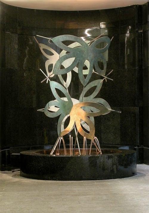 Sculptures by Jeffrey Maron seen at UPMC Cancer Pavilion, Pittsburgh - Spirits' Flight