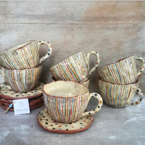 Cups by Didem Firat CERAMICS seen at Creator's Studio, Ankara - Tea Cups
