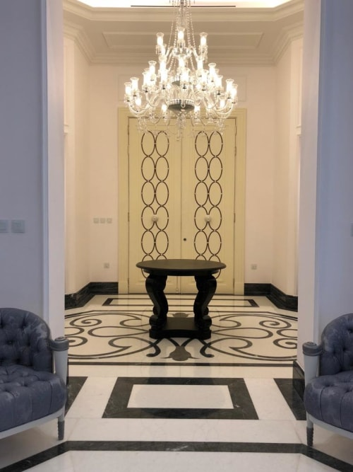 Chandeliers by Mazzega1946 seen at Private Residence, London - Bespoke London Residence