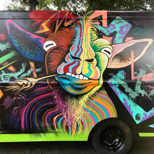 Murals by Works of Stark Murals and Design seen at Sanford, Sanford - Wandering Goat food truck (Wood fired pizza)
