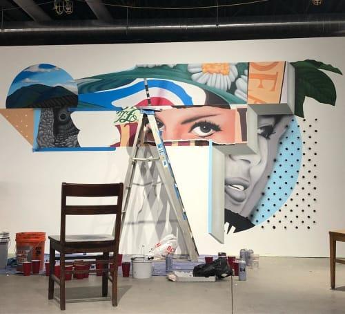 Murals by Nosey42 seen at Anthology Coffee, Detroit - Mural (Scandinavian Design)