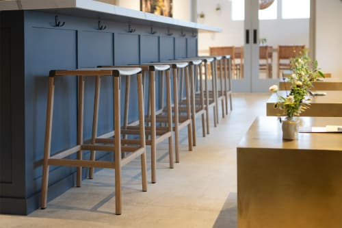 Chairs by Fyrn seen at LIOCO Wine Tasting Room, Healdsburg - Bartlett Backless Bar Stool