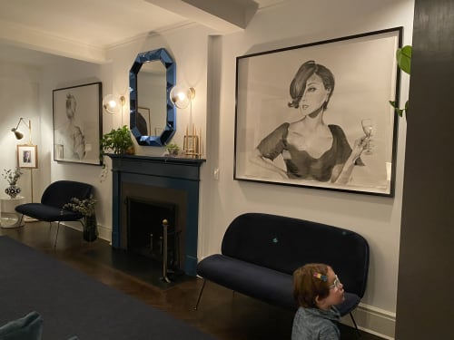 Paintings by Clementine Studio seen at Private Residence, New York - Large scale commission for Manhattan apartment